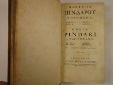 1744 Omnia PINDAR Quae Extant GREEK w/ Latin notes ROBERT FOULIS imprint GLASGOW