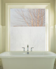 ETCHED GLASS WINDOW FILM Privacy 24 x 36 Vinyl Static Cling Films Frosted Look