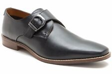 Red Tape Sutton Black Leather Mens Monk Shoes UK UK 8