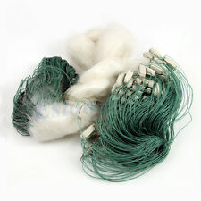 Clear White Green 45m 3Layers Long Monofilament Fishing Fish Gill Net with Float