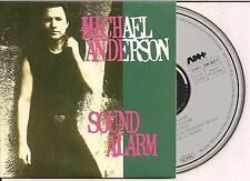 MICHAEL ANDERSON - sound alarm CD SINGLE 3TR CARDSLEEVE 1988 (GERMANY)