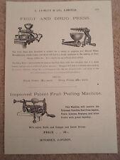 FRUIT+DRUG PRESS+PEELING MACH Images Copy Print Lumley & Co Minories London #469