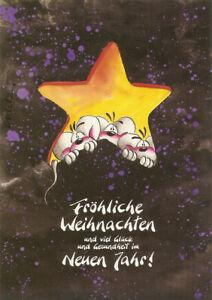 Diddl Postkarten,Weihnachten No.26 Fröhliche Weihnachten und viel Glück und Gesu