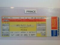 Prince concert ticket Detroit Michigan 2001.................. {{FREE SHIPPING}}