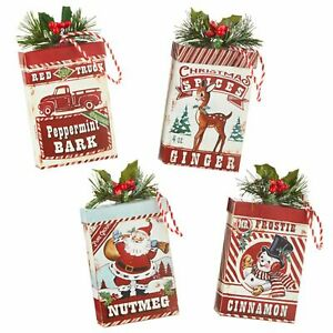 "Raz Imports 2021 Country Kitchmas 5"" Holiday Spice Ornaments, Assortment of 4"