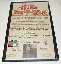 Vintage Mayfield Kentucky  Hill's Drive In Menu