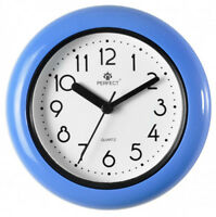 PERFECT Small Water Resistant Bathroom Clock To Stand or Hang BLUE