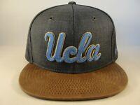 UCLA Bruins NCAA Zephyr Snapback Hat Cap Gray Brown