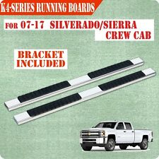 07-17 Chevy Silverado crew Cab 4' Nerf Bar Running Board Side Step chrome H
