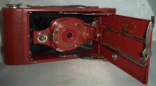 Antique Vintage Eastman Kodak Hawkeye Red Rainbow Folding Camera 2A Model B