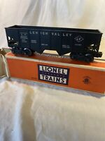 Lionel Postwar Lehigh Valley #6456 Black  with Coal Load O Scale Model Railroad