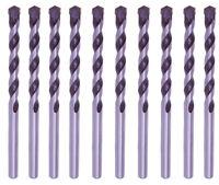 "10Pcs 1/4"" Masonry Drill Bits Carbide tipped Black/White Stone Bricks Concrete"