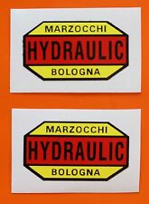 DUCATI BEVEL TWINS/SINGLES MARZOCCHI DECALS PAIR FOR EARLY BEVEL MODELS