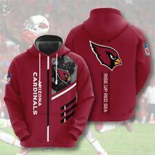 Arizona Cardinals Hoodie Men's Sports Sweatshirt Pullover Football Hooded Jacket