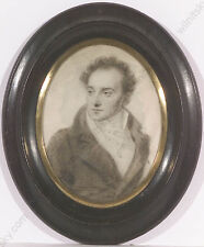 "Amelie Munier-Romilly (1788-1875)-Attrib. ""Portrait of a Gent"", drawing, 1810s"