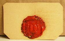 Mme de Morell d'Aubigny d'Assy Cachet de cire armoiries seal Sceau héraldique