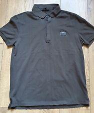Antony Morato XL black short sleeved black 100% cotton button up collared polo s