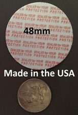 48mm Press & Seal Cap Liners - 48 mm Foam Safety Tamper Seals Usa Made 50-1000