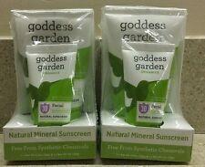 2 Goddess Garden Organics Natural Mineral Facial Sunscreen Spf30 New! *Read*