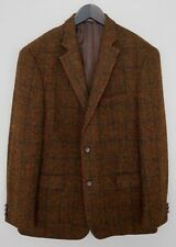 Men Harris Tweed Blazer Jacket Wool L IT52 US UK 42 QBA390