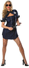 Sexy Sheriff Police Lady Costume Dress Badge Dark Blue Navy Small Medium 2 4 6