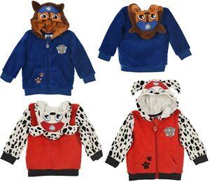 Baby Boys Kids Paw Patrol Cardigan Zip Hoodie Character Top Coral Fleece sweater