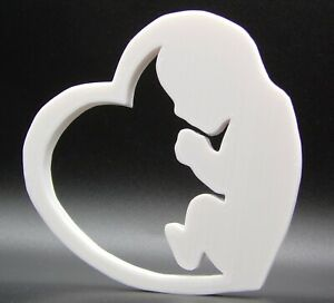 Newborn Baby in Heart Shape Home Ornament 10x10x1cm - Various Colours