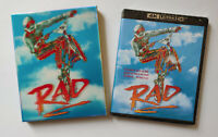 RAD 1986 4K Ultra HD Blu Ray Limited Edition 3D Slipcover Vinegar Syndrome NEW