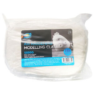Air Dry Clay - White 5kg for kids craft