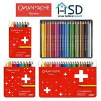 Caran d'Ache Swisscolor Water Resistant Artist Sketching Colour Pencil Metal Set