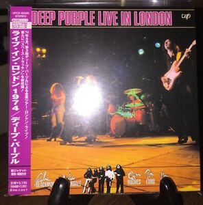 DEEP PURPLE- Live In London, PROMO Japan MINI LP 2 CD w/OBI VPCK-85325 RARE