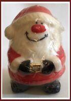 Vintage SANTA CLAUS Candle - Robert Allen Candle Co - Smiling Santa/Christmas