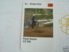 23 MOTO-CROSS 6A USSR PAVEL RULYOV CZ 250 KWARTET KAART, QUARTETT CARD,