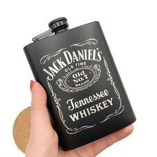 STAINLESS STEEL HIP LIQUOR WHISKEY ALCOHOL FLASK CAP 7 8 OZ POCKET WINE BOTTLE
