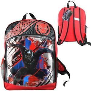 "Boys Black Panther Superhero Backpack 16"""