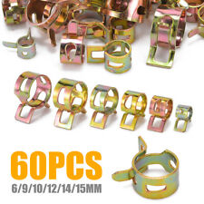 60Pcs Car Auto Spring Clip Fuel Oil Water Hose Pipe Tube Clamp Fastener 6 Sizes