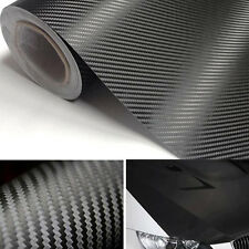 "20""x50"" 3D Black Carbon Fiber Film Vinyl Sticker Car Body Interior Decoration"