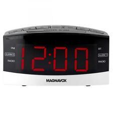 Magnavox Dual Alarm Digital AM/FM Clock Radio with Bluetooth Black