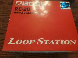 Boss RC-20 Loop Station Looper Sampler Effects Pedal Phrase Sampler