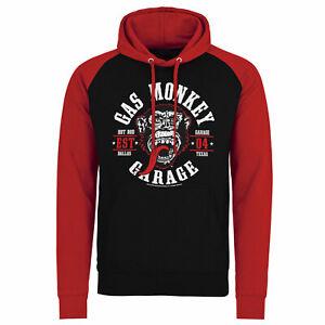 Officially Licensed Gas Monkey Garage Round Seal Baseball Hoodie S-XXL Sizes