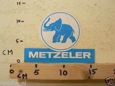 STICKER,DECAL METZELER BANDEN TYRES LARGE  ELEPHANT NOT 100 % OK 17 CM