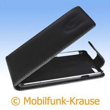 Flip Case Etui Handytasche Tasche Hülle f. Apple iPhone 6S (Schwarz)
