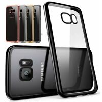 NEW Electroplated Colour Trim Bumper Gel Case Cover for Samsung Galaxy A5 2017