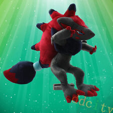 "Takara Pokemon Center Zorua Zoroark 12"" ゾロア Stuffed Animal  Plush Toy Doll Gift"
