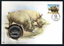 Swaziland - 1993 WWF White Rhino Coin Cover