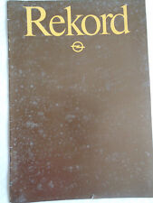 Opel Rekord brochure 1981 French text