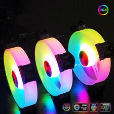 COOLMOON Computer Case PC Cooling Fan RGB Adjust LED 120mm Durable Quiet TxB te