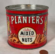 New ListingRare Canada Planters Peanut Key Wind Salted Mixed Nuts 14 Ounce Large Tin