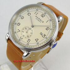 42mm PARNIS beige dial Arab mark date window sea-gull 1731 automatic mens watch