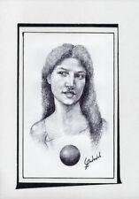 CAPRICHOS DEL FUEGO Original Art Drawing Cuba Cuban FERNANDO GODERICH FABARS 25